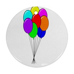 Colorful Balloons Round Ornament (Two Sides)