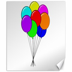 Colorful Balloons Canvas 8  x 10