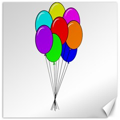 Colorful Balloons Canvas 12  x 12