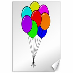 Colorful Balloons Canvas 12  x 18