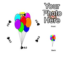 Colorful Balloons Playing Cards 54 (Round)