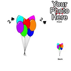 Colorful Balloons Playing Cards 54 (Heart)