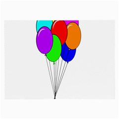 Colorful Balloons Large Glasses Cloth (2-Side)