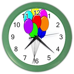Colorful Balloons Color Wall Clocks