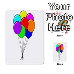 Colorful Balloons Multi Purpose Cards (rectangle)