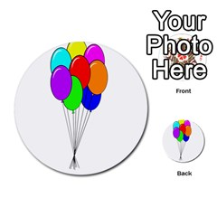 Colorful Balloons Multi Purpose Cards (round)