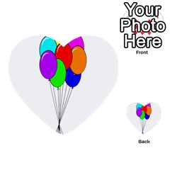 Colorful Balloons Multi Purpose Cards (heart)