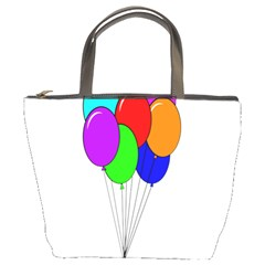 Colorful Balloons Bucket Bags