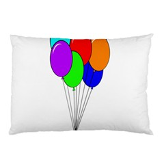 Colorful Balloons Pillow Case
