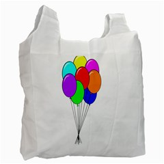 Colorful Balloons Recycle Bag (One Side)