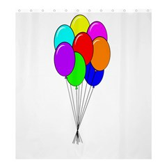 Colorful Balloons Shower Curtain 66  x 72  (Large)