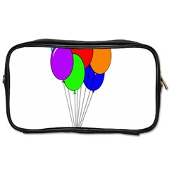 Colorful Balloons Toiletries Bags 2 Side