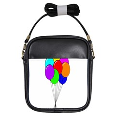 Colorful Balloons Girls Sling Bags
