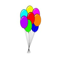 Colorful Balloons Shower Curtain 48  x 72  (Small)