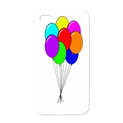 Colorful Balloons Apple iPhone 4 Case (White)