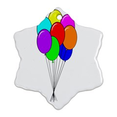 Colorful Balloons Snowflake Ornament (2-Side)