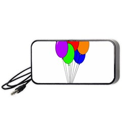 Colorful Balloons Portable Speaker (Black)