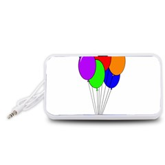 Colorful Balloons Portable Speaker (White)