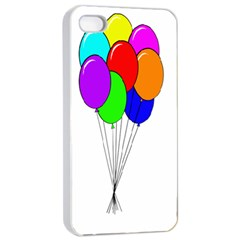 Colorful Balloons Apple Iphone 4/4s Seamless Case (white)