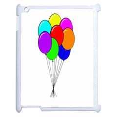 Colorful Balloons Apple iPad 2 Case (White)