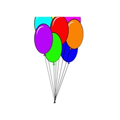 Colorful Balloons Birthday Cake 3d Greeting Card (7x5)