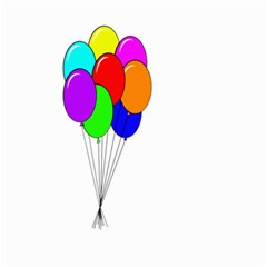 Colorful Balloons Small Garden Flag (two Sides)