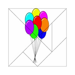 Colorful Balloons Acrylic Tangram Puzzle (6  x 6 )