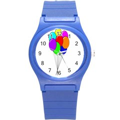 Colorful Balloons Round Plastic Sport Watch (S)
