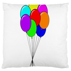 Colorful Balloons Large Cushion Case (One Side)