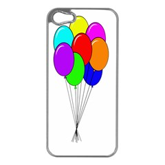 Colorful Balloons Apple iPhone 5 Case (Silver)