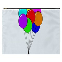 Colorful Balloons Cosmetic Bag (XXXL)