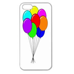 Colorful Balloons Apple Seamless Iphone 5 Case (clear)