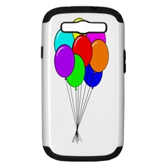 Colorful Balloons Samsung Galaxy S Iii Hardshell Case (pc+silicone)