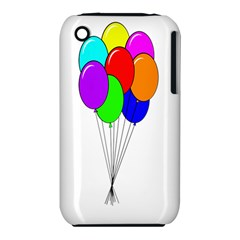 Colorful Balloons Apple Iphone 3g/3gs Hardshell Case (pc+silicone)