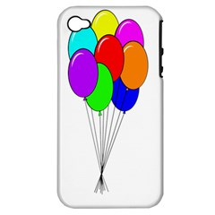 Colorful Balloons Apple Iphone 4/4s Hardshell Case (pc+silicone)