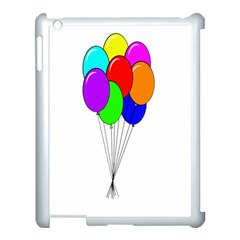 Colorful Balloons Apple iPad 3/4 Case (White)