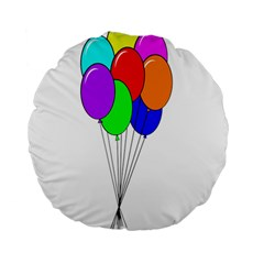 Colorful Balloons Standard 15  Premium Round Cushions