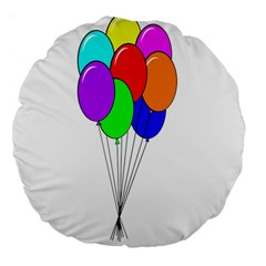 Colorful Balloons Large 18  Premium Round Cushions