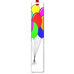 Colorful Balloons Large Book Marks