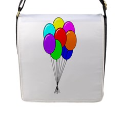 Colorful Balloons Flap Messenger Bag (L)