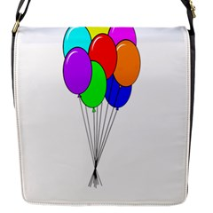 Colorful Balloons Flap Messenger Bag (S)
