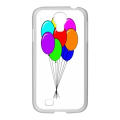 Colorful Balloons Samsung GALAXY S4 I9500/ I9505 Case (White)