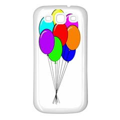 Colorful Balloons Samsung Galaxy S3 Back Case (white)