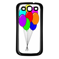 Colorful Balloons Samsung Galaxy S3 Back Case (black)