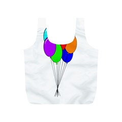Colorful Balloons Full Print Recycle Bags (S)