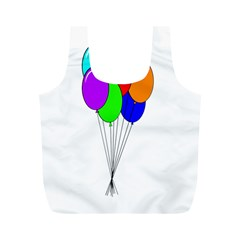 Colorful Balloons Full Print Recycle Bags (M)