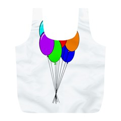 Colorful Balloons Full Print Recycle Bags (l)