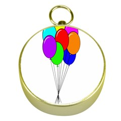 Colorful Balloons Gold Compasses