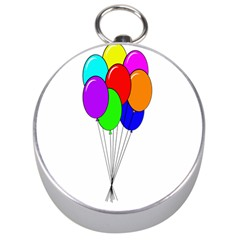 Colorful Balloons Silver Compasses