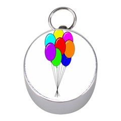 Colorful Balloons Mini Silver Compasses
